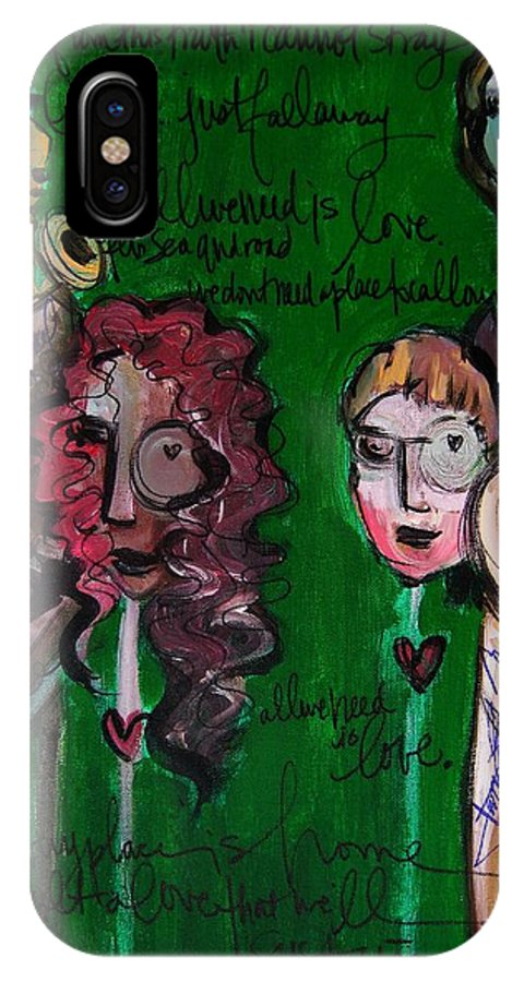 Melissa Axel Music IPhone X Case featuring the painting Melissa Axel At Swallow Hill by Laurie Maves ART