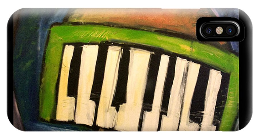 Funny IPhone Case featuring the painting Melodica Mouth by Tim Nyberg