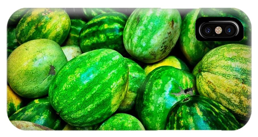 Produce Store IPhone X Case featuring the photograph Melones -zandia by Carlos Avila