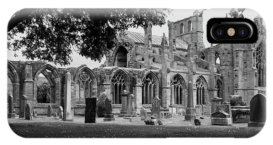 Ruins IPhone X Case featuring the photograph Melrose Abbey by Martina Fagan