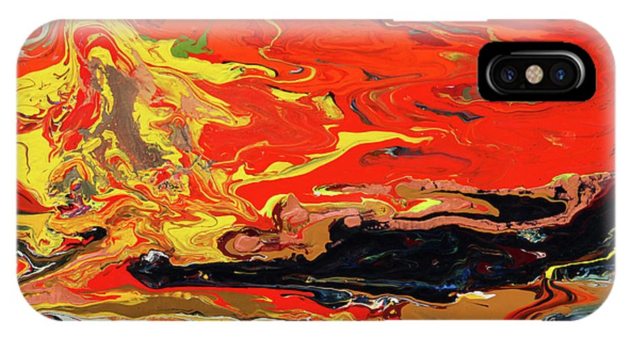 Fusionart IPhone X / XS Case featuring the painting Melt by Ralph White