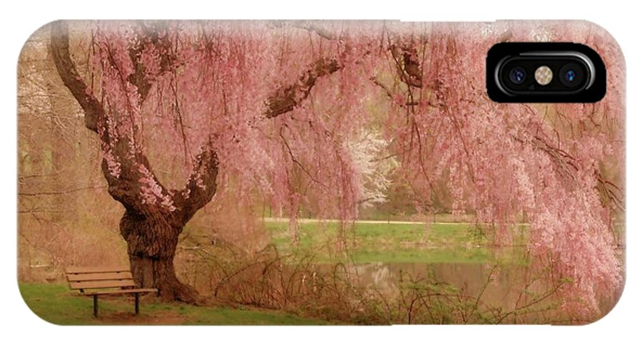 Cherry Blossom Trees IPhone X Case featuring the photograph Memories - Holmdel Park by Angie Tirado