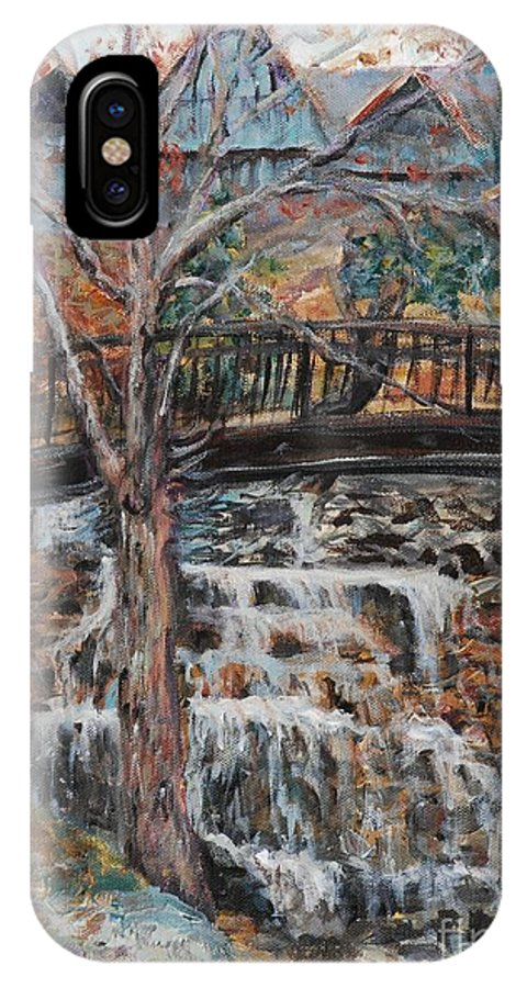 Waterfalls IPhone Case featuring the painting Memories by Nadine Rippelmeyer