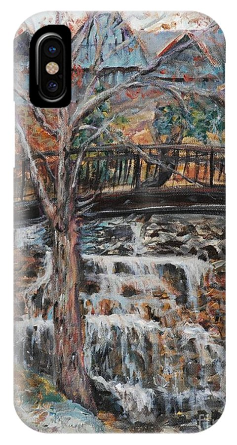 Waterfalls IPhone X Case featuring the painting Memories by Nadine Rippelmeyer