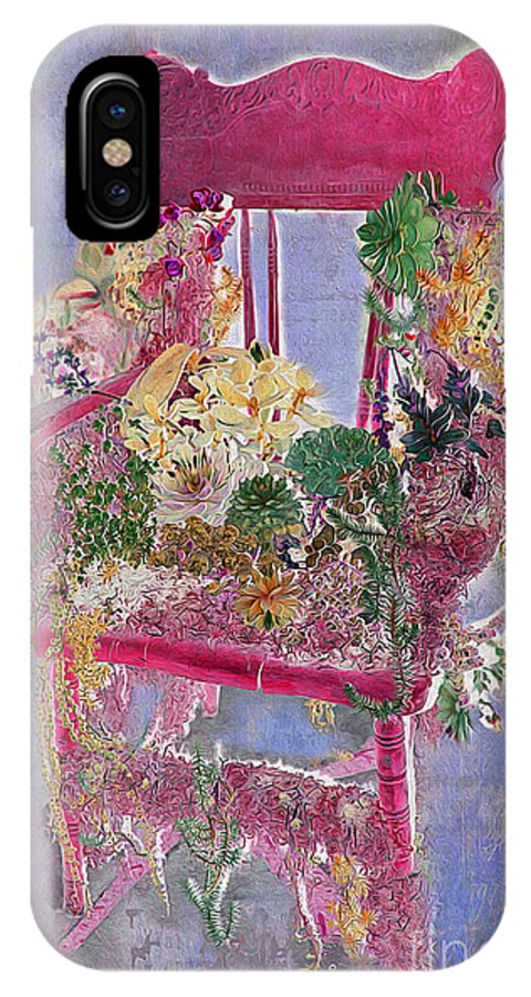 Flowers IPhone X Case featuring the photograph Memories Of Grandmother's Garden by Nina Silver