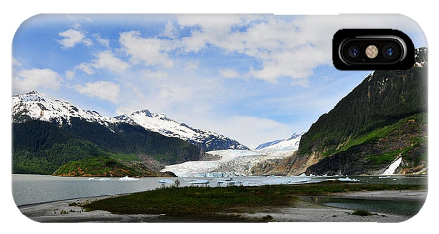 Mendenhall IPhone Case featuring the photograph Mendenhall Glacier by Keith Gondron