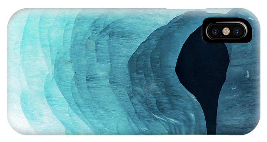 Glacier IPhone X Case featuring the photograph Mer De Glace by Delphimages Photo Creations