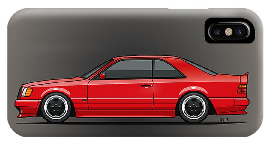 Mercedes W124 300e Red Amg Hammer Widebody Coupe IPhone X Case