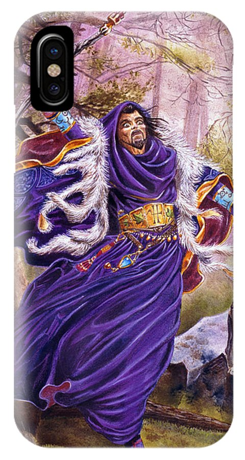 Artwork IPhone X / XS Case featuring the painting Merlin by Melissa A Benson