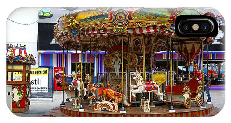 Merry-go-round IPhone X Case featuring the photograph Merry-go-round At The Prater by Madeline Ellis