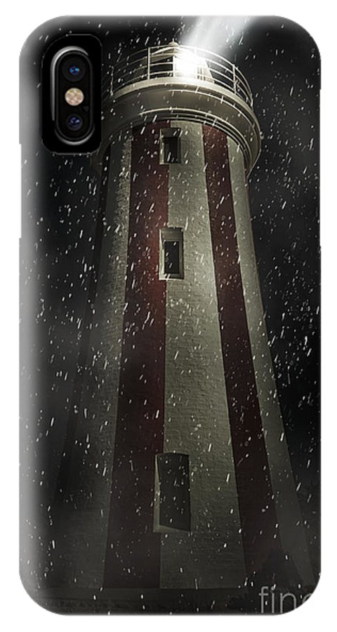 Lighthouse IPhone X Case featuring the digital art Mersey Bluff Lighthouse In Devonport. Fine Art by Jorgo Photography - Wall Art Gallery