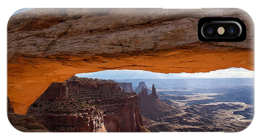 Canyonlands National Park IPhone X Case featuring the photograph Mesa Arch Morning Glow by Paul Moore