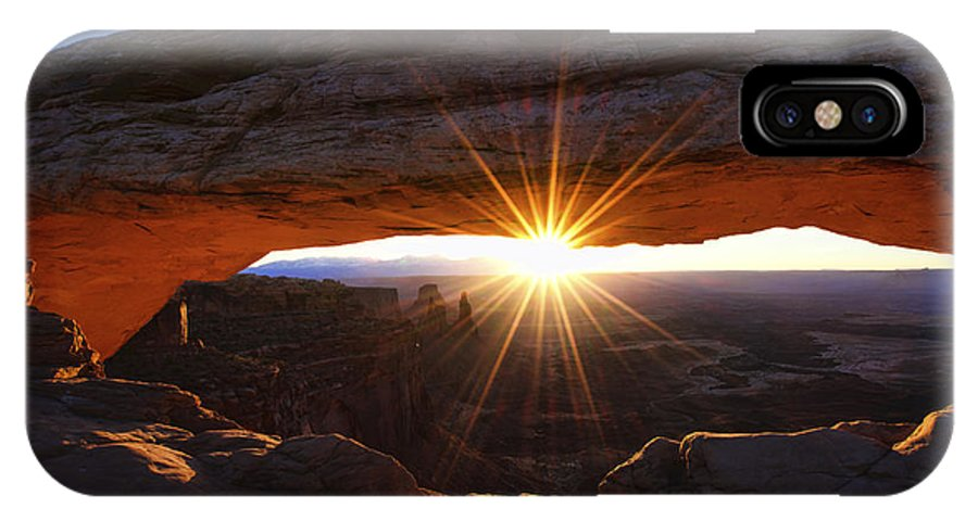 Mesa Sunrise IPhone X Case featuring the photograph Mesa Sunrise by Chad Dutson