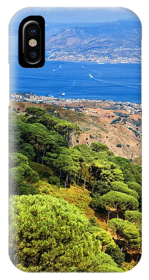 Italy IPhone X Case featuring the photograph Messina Strait - Italy by Silvia Ganora