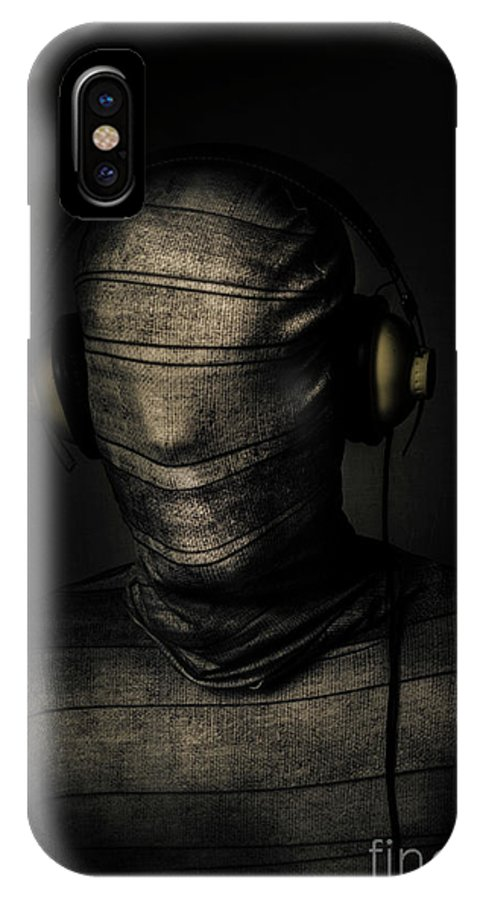 Death IPhone X Case featuring the photograph Metal Monster Mummy by Jorgo Photography - Wall Art Gallery