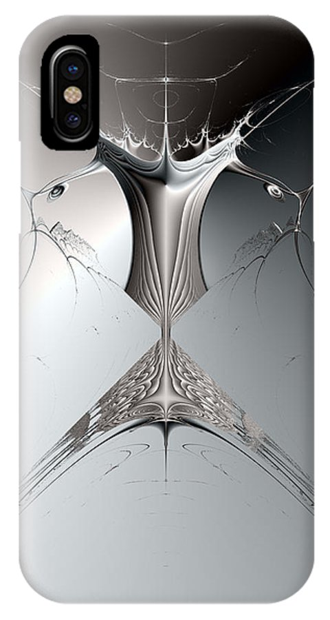 Metal IPhone X Case featuring the digital art Metal Tree by Frederic Durville