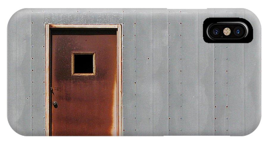Door IPhone X Case featuring the photograph Metallic Contrasts by Ben Freeman