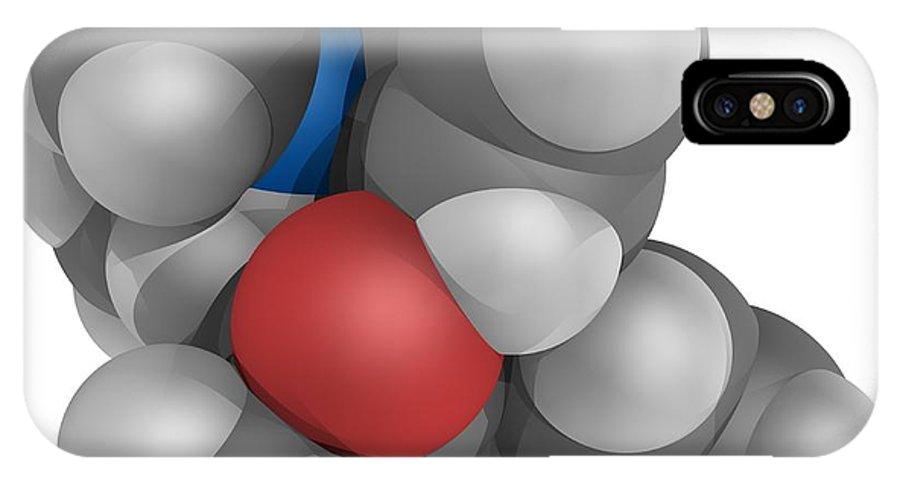 Molecular IPhone X / XS Case featuring the photograph Methadone Molecule by Laguna Design