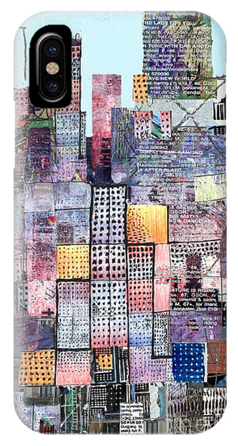 Metro IPhone Case featuring the digital art Metropolis 3 by Andy Mercer