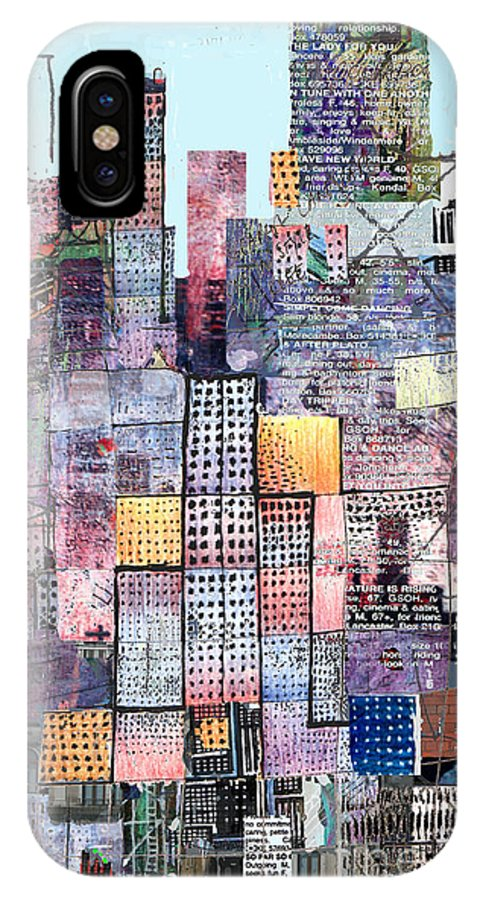 Metro IPhone X Case featuring the digital art Metropolis 3 by Andy Mercer