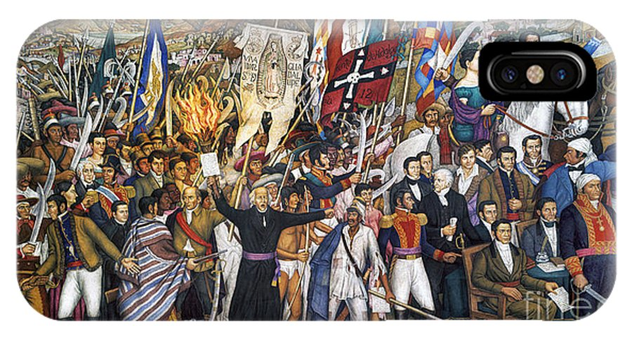 1810 IPhone X Case featuring the photograph Mexico: 1810 Revolution by Granger