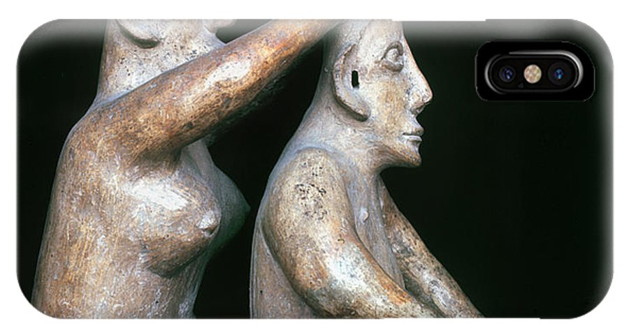 200 B.c. IPhone X Case featuring the photograph Mexico: Totonac Figures by Granger