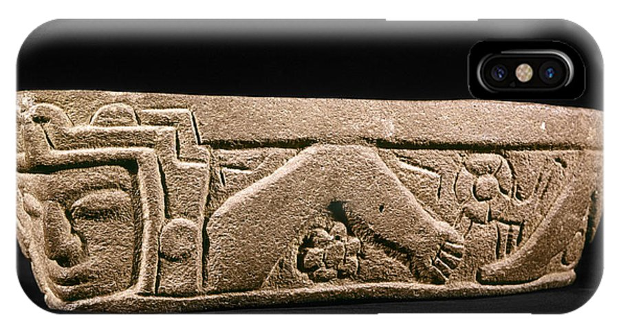 7th Century IPhone X Case featuring the photograph Mexico: Totonac Swimmer by Granger