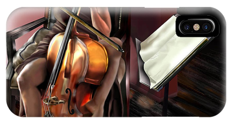 Cello IPhone X / XS Case featuring the painting Mi Chica - Solace In The Unseen by Reggie Duffie