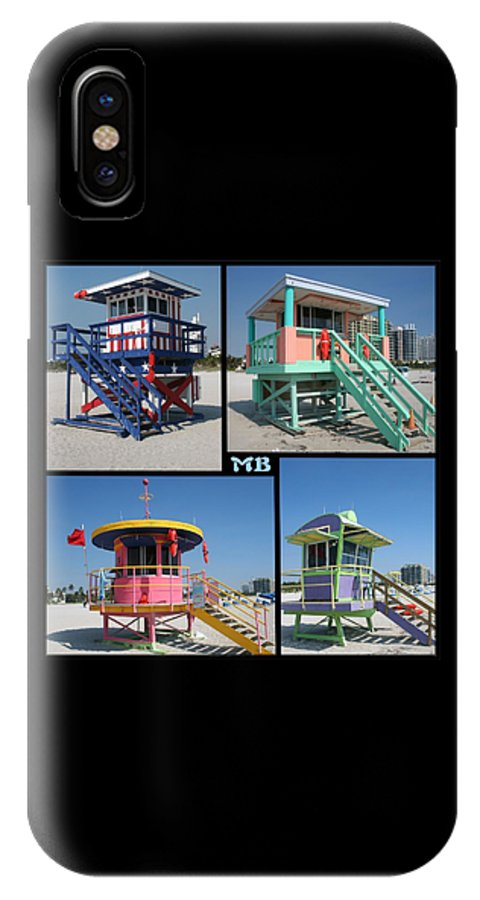 Miami IPhone X Case featuring the photograph Miami Huts by DJ Florek