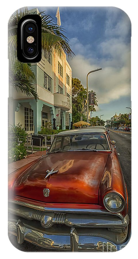Miami IPhone X / XS Case featuring the photograph Miami Ride by Phyllis Webster