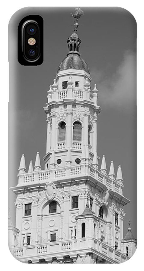 Architecture IPhone X Case featuring the photograph Miami Tower by Rob Hans