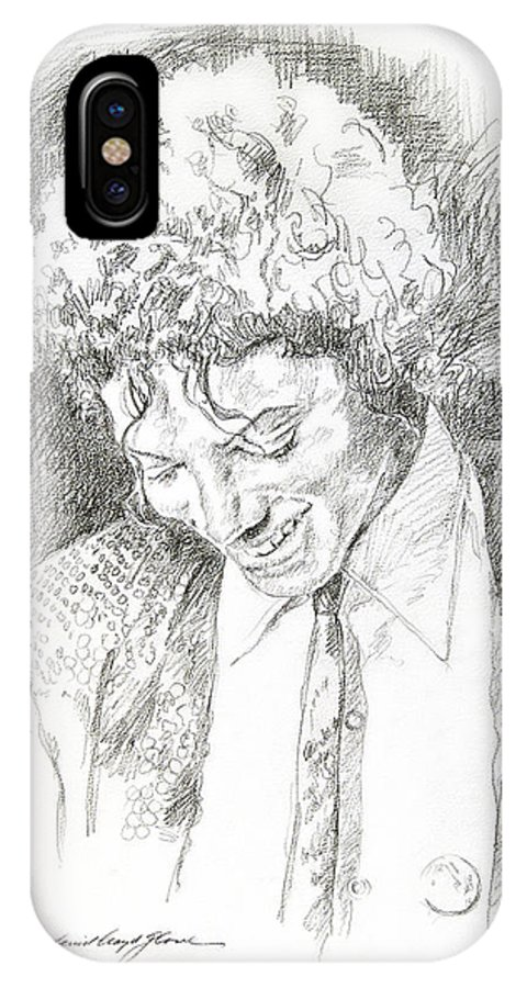 Michael Jackson IPhone X Case featuring the drawing Michael Jackson - Remember The Time by David Lloyd Glover
