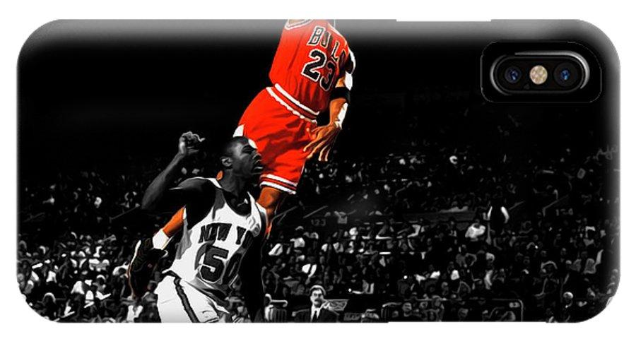 Michael Jordan Suspended In Air IPhone X Case
