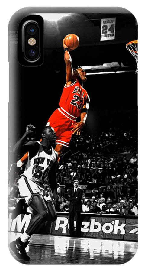 new style f4183 2768a Michael Jordan Suspended In Air IPhone X Case