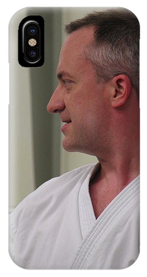 Karate IPhone Case featuring the photograph Michael by Kelly Mezzapelle