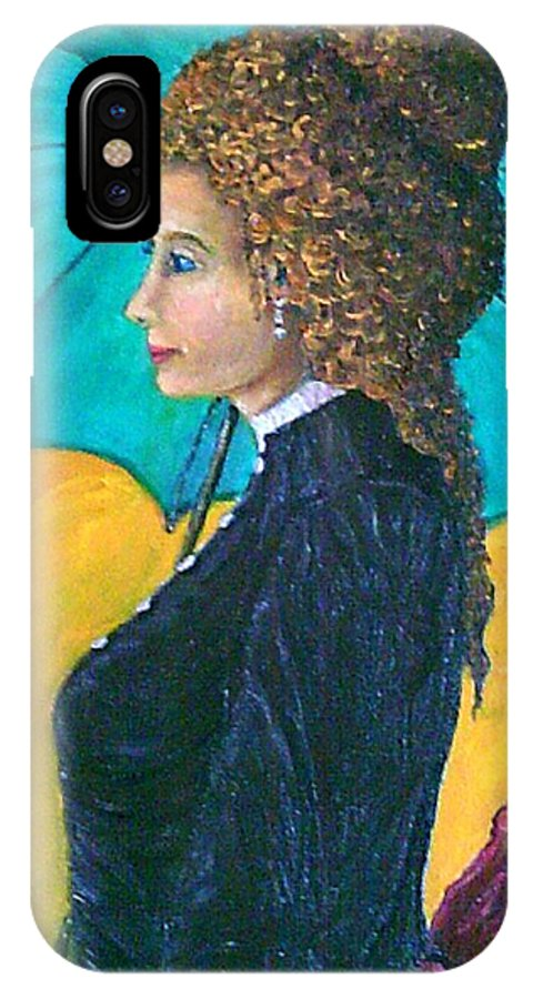 Young Girle IPhone X Case featuring the painting Michelle by Frank Morrison