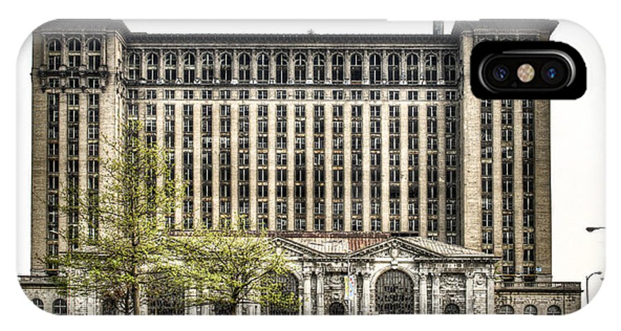 Michigan Central Station IPhone X Case featuring the photograph Michigan Central Station Detroit by Scott Bert