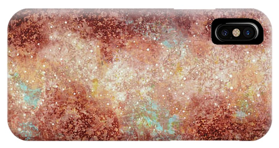 Large Abstract IPhone Case featuring the painting Microcosm by Jaison Cianelli