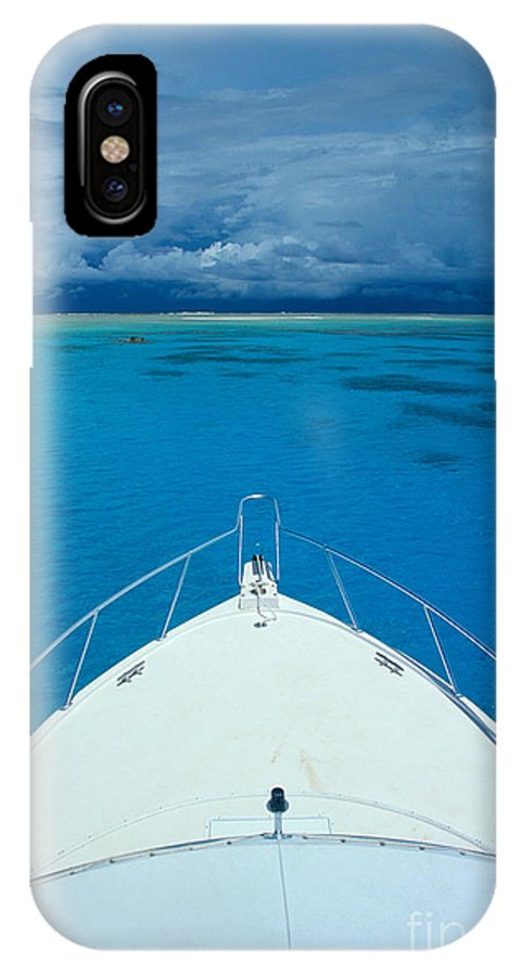 Afternoon IPhone X Case featuring the photograph Micronesia, Boat Bow by Rick Gaffney - Printscapes
