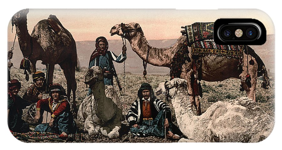 1890s IPhone X Case featuring the photograph Middle East: Travelers by Granger