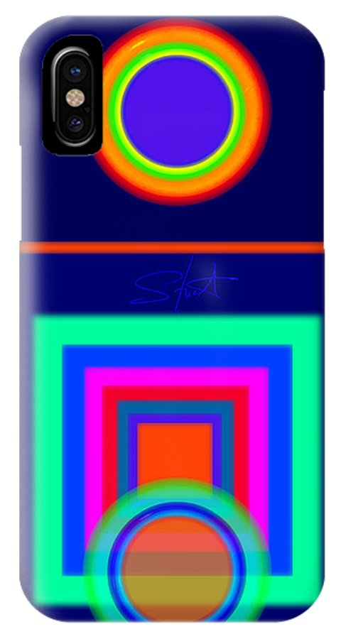 Classical IPhone X Case featuring the digital art Midnight Journey by Charles Stuart