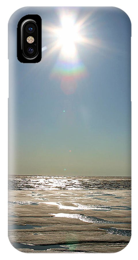 Arctic IPhone X Case featuring the photograph Midnight Sun Over The Arctic by Anthony Jones