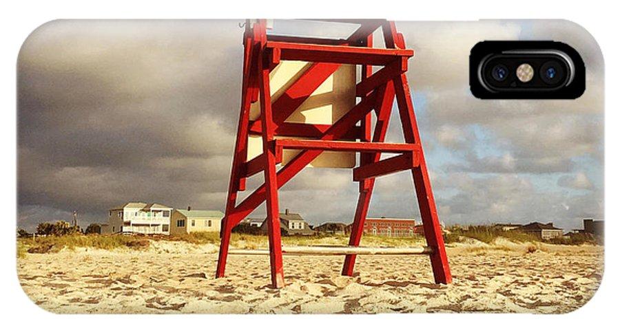 #summerbegins #lifeguards #savelives #heroes #boysofsummer #girlsofsummer #westend2 #jonesbeachmemories #staugustine #florida #leeannkendall #1000sunrises IPhone X Case featuring the photograph Mighty Red by LeeAnn Kendall