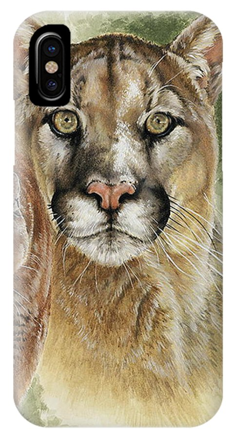Cougar IPhone X / XS Case featuring the mixed media Mighty by Barbara Keith