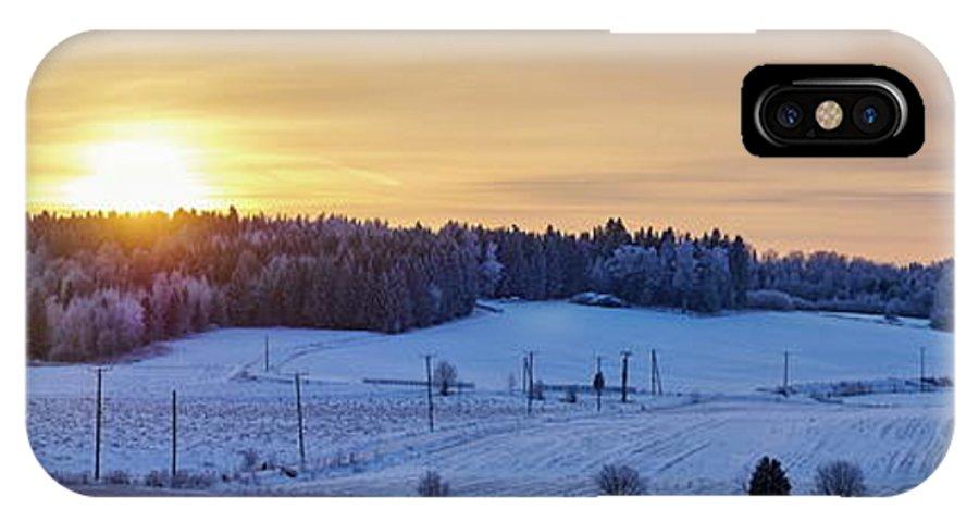 Finland IPhone X Case featuring the photograph Mihari Sunset by Jouko Lehto