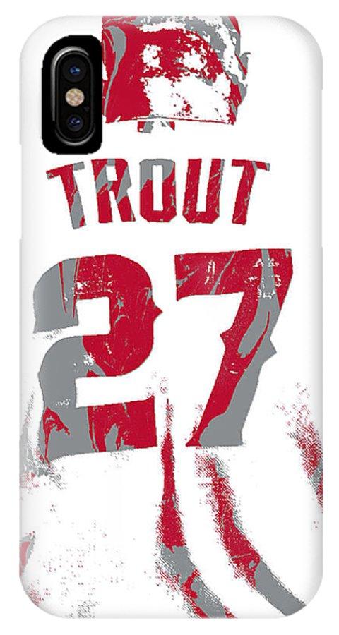 Mike Trout Los Angeles Angels Pixel Art 13 IPhone X Case