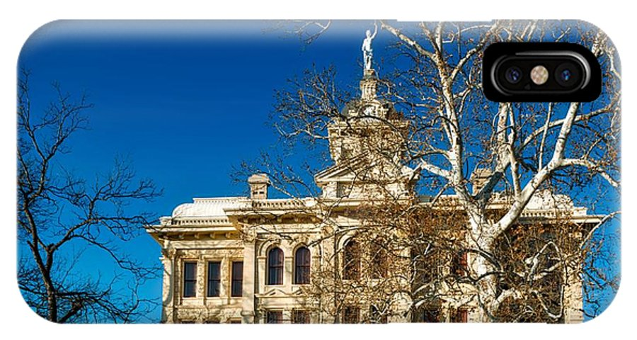 Milam County IPhone X Case featuring the photograph Milam County Courthouse by Mountain Dreams