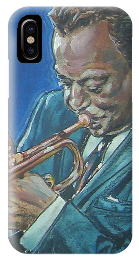 Miles Davis IPhone X Case featuring the painting Miles Davis by Bryan Bustard
