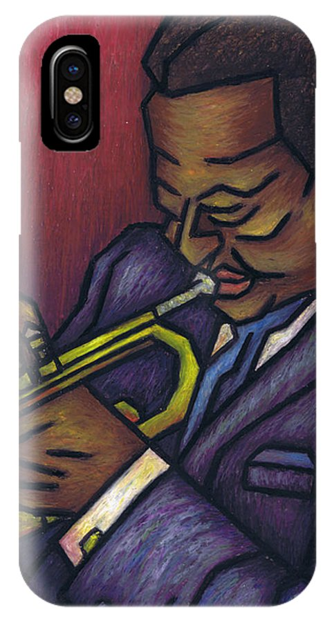 Miles Davis IPhone X Case featuring the painting Miles Davis by Kamil Swiatek