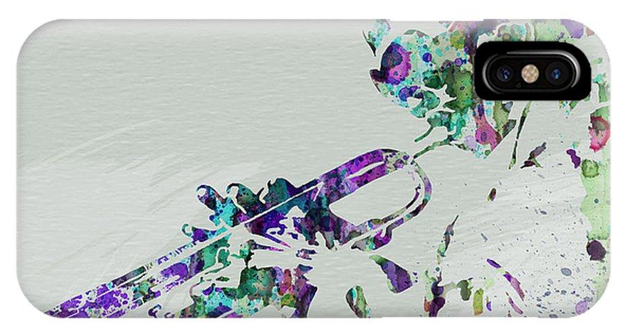 Miles Davis IPhone X Case featuring the painting Miles Davis by Naxart Studio